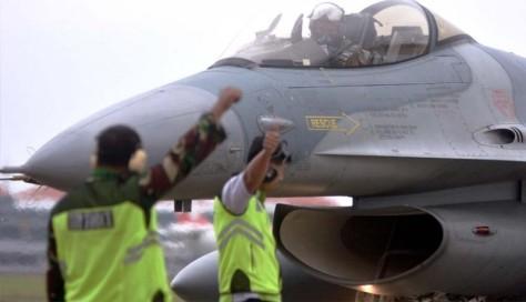 F-16 Tiba di Bali Usai Ikuti Pitch Black 2018 di Australia (Antara)