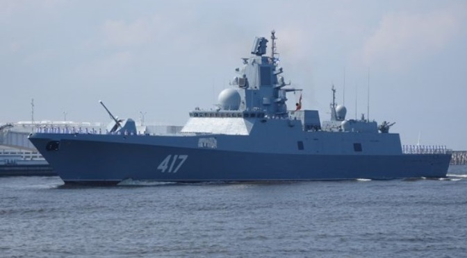 Frigat Project 22350 Admiral Gorshkov Diluncurkan