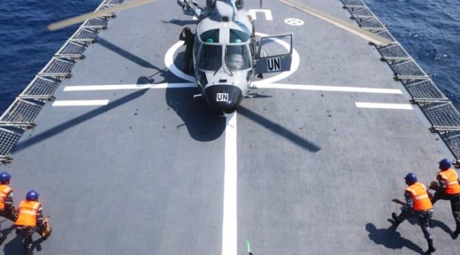 Dauphin HR-3601 Onboard KRI Usman Harun-359 di Laut Mediterania