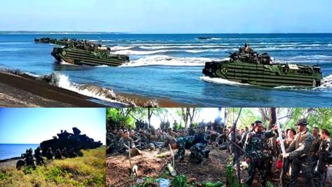 Marinir dan USMC Mendarat Di Pantai Banongan