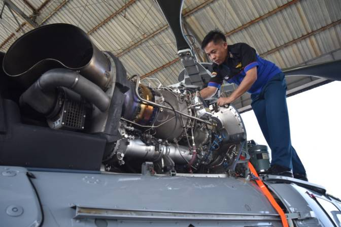 Pemeriksaan Khusus 50 Jam Terbang Helikopter Panther HS-4204