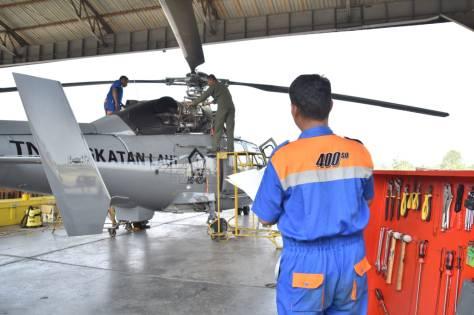 Pemeriksaan Khusus 50 Jam Terbang Heli Panther HS-4204 (Puspenerbal)
