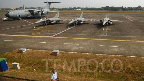 Rafale di Landasan Udara Halim Perdanakusuma, Jakarta, Selasa, 21 Agustus 2018 dalam misi Pegasus 2018. (Tempo) 1