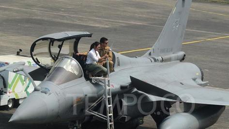 Rafale di Landasan Udara Halim Perdanakusuma, Jakarta, Selasa, 21 Agustus 2018 dalam misi Pegasus 2018. (Tempo)