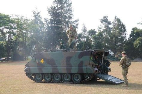 Rhino Ausindo, Latma Yonif Mekanis Raider 411 Kostrad dan AD Australia