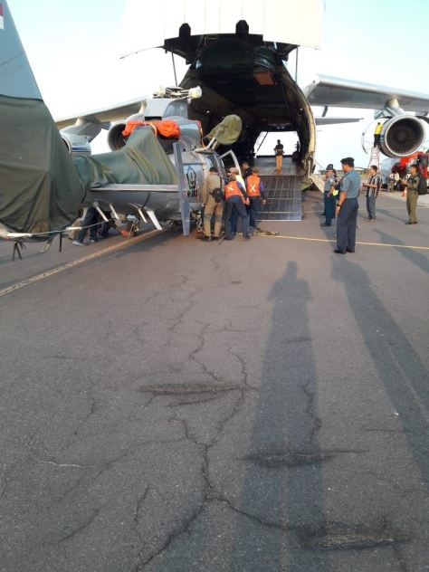TNI Kirim Helikopter Dauphin AS 365 N3 HR-3601 Dukung Satgas Misi PBB. (Istimewa) 1