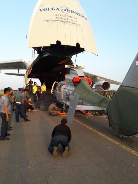 TNI Kirim Helikopter Dauphin AS 365 N3 HR-3601 Dukung Satgas Misi PBB. (Istimewa)