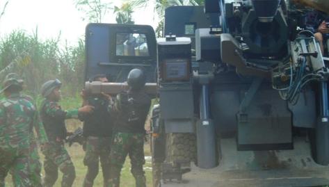 Yonarmed 12 155 Kostrad Latihan Program Menembak Senjata Berat Teknis dengan Meriam 155 GS Caesar. (Times Indonesia) 1