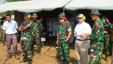 Yonarmed 12 155 Kostrad Latihan Program Menembak Senjata Berat Teknis dengan Meriam 155 GS Caesar. (Times Indonesia) 2