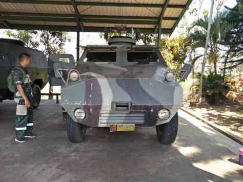 Asistensi Teknik (Asnik) pemeriksaan materiil kendaraan tempur Panser APR 1 V1 Kikav 8 Kostrad. (Kostrad)