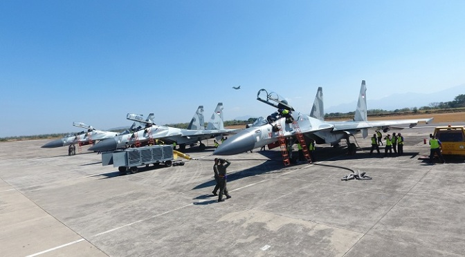 Empat Unit Sukhoi Siap Gabung dalam Latihan Sikatan Daya