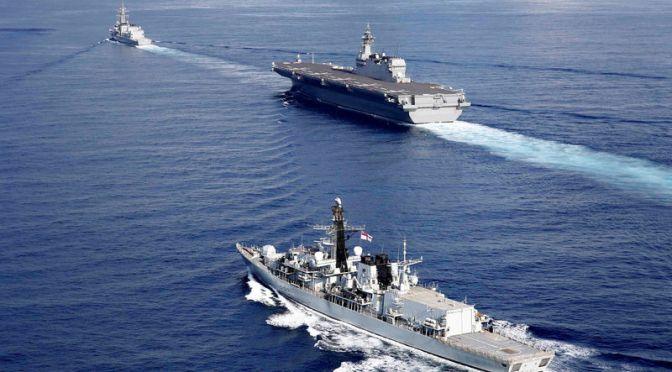 Jepang dan Inggris Gelar Latihan Gabungan di Laut Cina Selatan