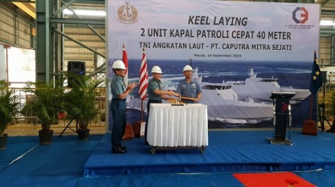 Keel Laying Dua Unit PC 40 M TNI AL