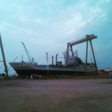 KRI Bontang 907 buatan PT Batamec Shipyard (21092018) (IG Military Buzz)