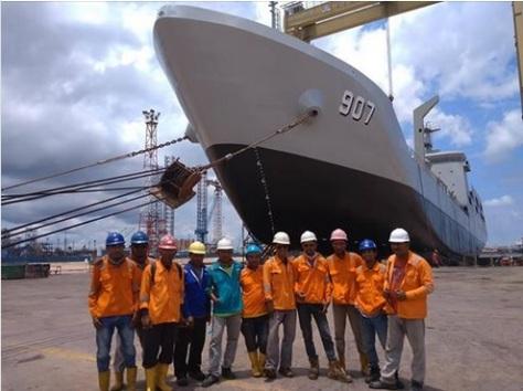 KRI Bontang 907 buatan PT Batamec Shipyard (22092018) (FB Binakarya)