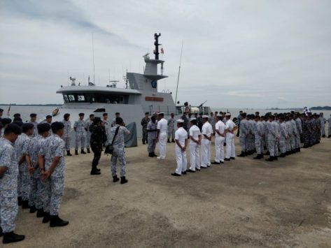 KRI Terapang-648 Laksanakan 3rd Trilateral Maritime Patrol