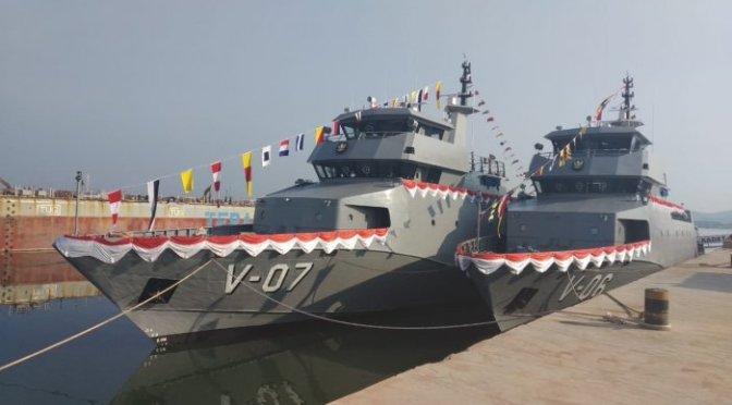 Angkatan Laut Luncurkan Tiga Unit Kapal Perang di Batam