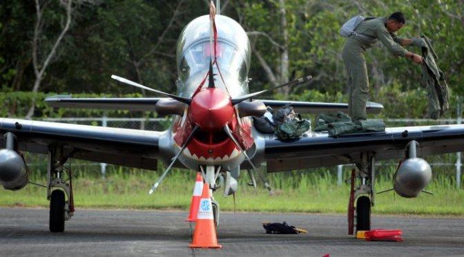 Jelang Latihan Tutuka, Super Tucano Tiba di Lanud Pattimura