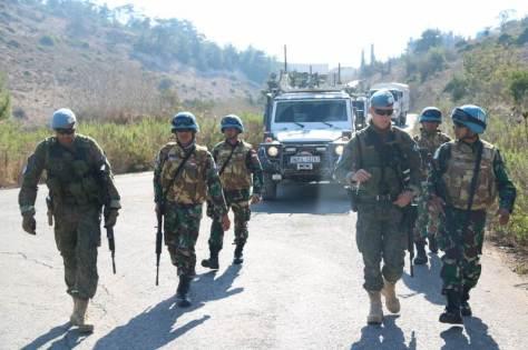 Satgas Indobatt Dan FCR Battalion Finlandia Gelar Latihan Bersama Di Lebanon