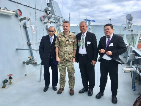 Ambassador Muhammad Ibnu Said visiting the Iver Huitfeldt-class frigate at Korsør Naval Base along with the delegation from the Indonesian Navy and the Indonesian Ministry of Defence. 8