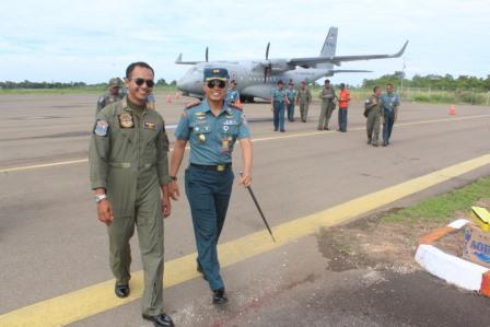 CN-235 P 8301 selesai melaksanakan patroli di wilayah Selat Malaka dan Laut Andaman