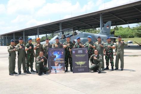 Dua Penerbang Skadron Udara 12 capai 2000 dan 1000 Jam Terbang