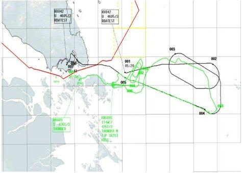 Dua Pesawat Sukhoi milik TNI Angkatan Udara berhasil mengusir pesawat asing yang terbang di sekitar timur Kota Tanjungpinang 2