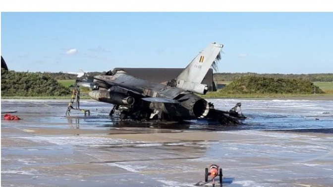 Penyebab Pesawat Tempur F-16 Meledak di Pangkalan Militer Belgia