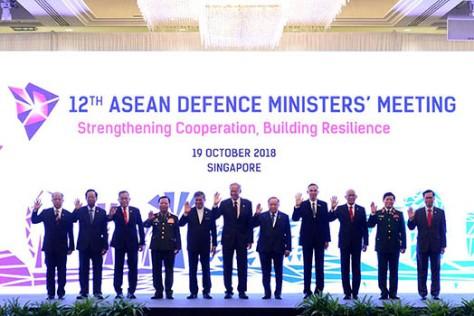 Menteri Pertahanan Se-ASEAN dan Mitra Lakukan Pertemuan di Singapura