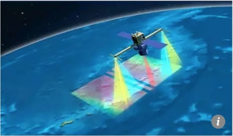 The satellite will use lidar technology and a microwave radar to identify targets. (Pilot National Laboratory for Marine Science and Technology)
