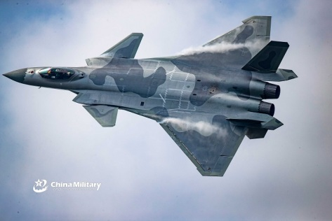 J-20 on November 11, 2018. (eng.chinamil.com.cn - photo by Wang Weid) E