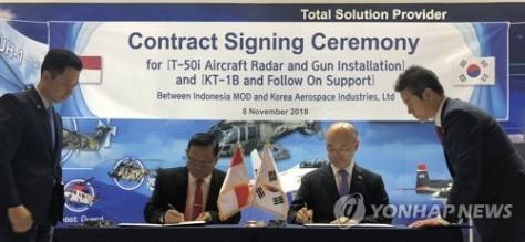 KAI Tandatangani Kontrak untuk Pasok Tiga Unit KT-1B dan Pemasangan Peralatan Radar T-50i TNI AU