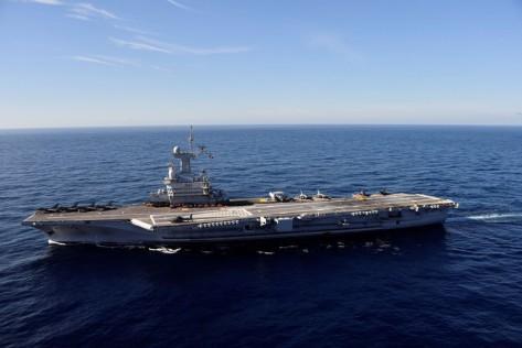Kapal Charles de Gaulle adalah andalan Prancis dan baru saja direnovasi selaam 18 bulan. Reuters 1