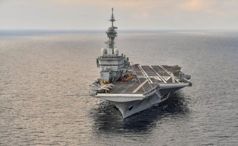 Kapal Charles de Gaulle adalah andalan Prancis dan baru saja direnovasi selaam 18 bulan. Reuters 2