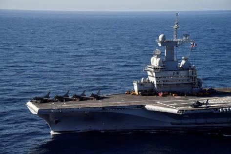 Kapal Charles de Gaulle adalah andalan Prancis dan baru saja direnovasi selaam 18 bulan. Reuters