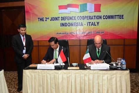 Komite Kerja Sama Pertahanan Gabungan Indonesia – Italia Kedua 2018
