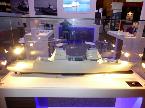 Omega scale model on Damen stand at Indodefence 2018. Navy Recognition picture