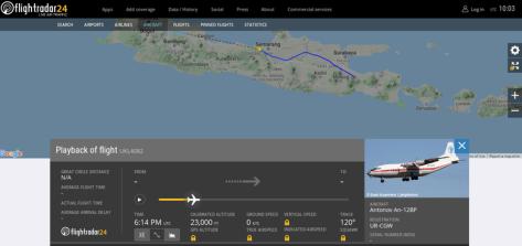 Antonov An-12BP mengantongi izin untuk melintas di langit Pantura Jawa