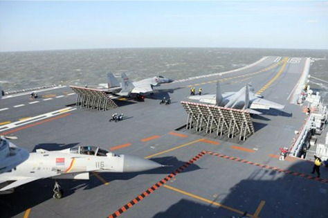 Kapal induk China, Tipe 001A, dilaporkan melakukan uji coba penerbangan (Istimewa)
