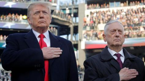 Presiden AS Donald Trump dan Menteri Pertahanan AS Jim Mattis (Reuters)