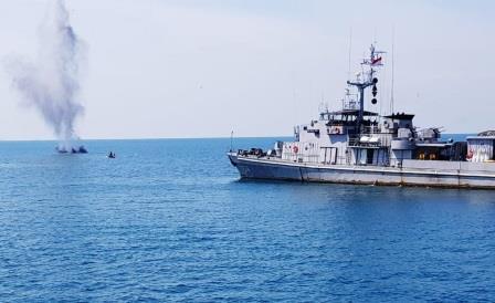 Satuan Kapal Ranjau Koarmada I menggelar Latihan Penyapuan Ranjau