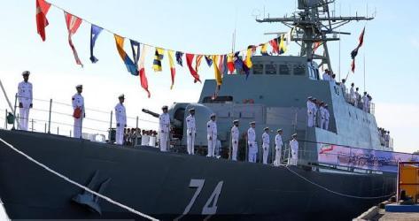 Kapal Penghancur Siluman Sahand buatan Iran. The Iran Project