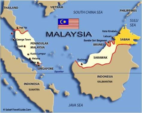 peta batas indonesia - malaysia