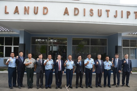 Danlanud Adisutjipto Sambut Delegasi Korean National Defence Committee