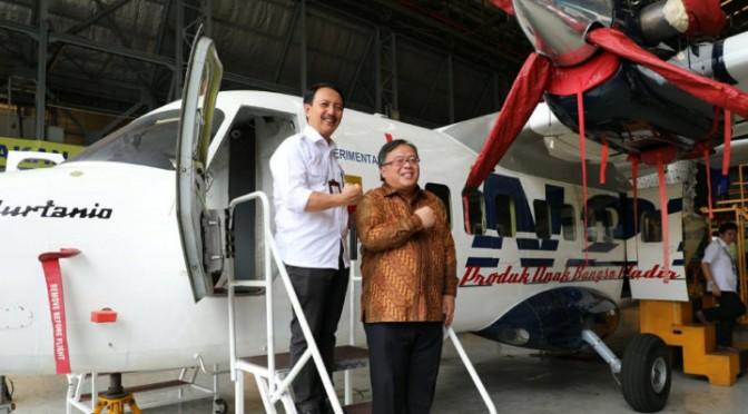 Tinjau Hanggar Fixed Wing PT DI, Menteri Bambang Sampaikan Tantangan Pembuatan Jet Tempur