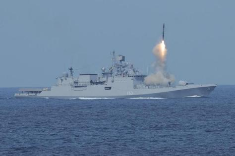 brahmos can be launched from the warship. (financial ekspress) 1