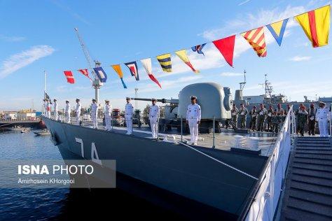 sahand destroyer joins iran's navy fleet, iran, bandar abbas city, december 1. (isna)