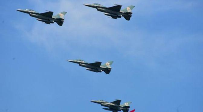 Empat F-16 TNI AU Patroli Udara di Aceh