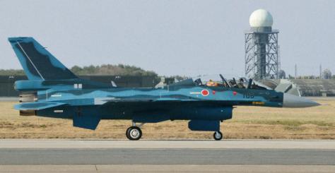 Jet tempur F-2 milik Angkatan Udara Jepang (The Mainichi)