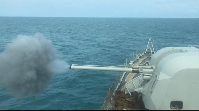 Latihan Peperangan Anti Kapal Permukaan KRI Fatahillah-361